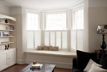 Cafe Style Shutters / Ideal for ground level windows and town houses, cafe style leaves the top of the window un-shuttered, using only shutters for the bottom part.  A great advantage of this style is that it maximises light whilst providing privacy.