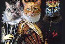 Peintures avec chats