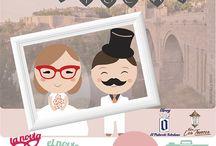 Photocall / Mini estudio de fotografía para conseguir un ambiente divertido en #bodas y otros eventos.