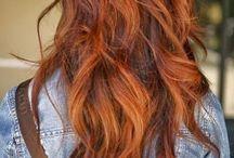 ombre hair auburn