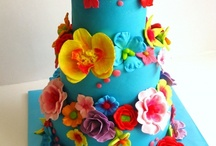 Bright and colourful cakes / cake decorating