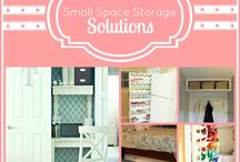Small space storage / by Betsy Feldmann