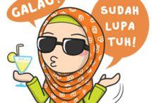 kartun muslimah