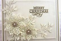 cards - Christmas  - poinsettia
