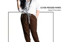 2015 - Clyde Pegged Pants / Slouchy pegged pants, material Premium Smooth Thick Cotton which specially designed for sophisticated curvy women originally made by Indonesian Designer & Local Brand: Ella Es Bonita.