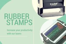 LASER RUBBER STAMPS SELLOS