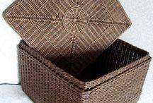 плетение из бумажной лозы / обучение, новые изделия, схемы плетений