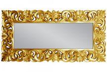 Luxusné nástenné zrkadlá v barokovom štýle / Krásne, ručne maľované zrkadlá nielen v barokovom štyle. Zrkadlá nájdete v zlatej, striebornej, bielej a niektoré aj v čiernej, prípadne v mosadznej farbe :)