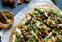 Honey fig and ricotta flatbread