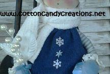 pupazzi e decorazioni feltro e stoffa natalizie