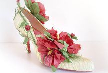 Shoes: Paper Art / Ideas for decorative shoes for dolls and ornaments