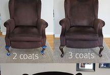 Dye the sofa