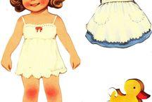 papír babák, öltöztető babák