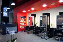 Klinika Wdowiak - strefa fryzjerstwa. / Wnętrze strefy fryzjerskiej Kliniki Wdowiak okiem Jakuba Woźniaka.