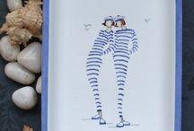 Pittura porcellana donnine