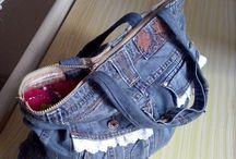 Spijkerbroek tas