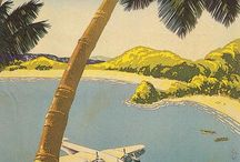 Vintage Airline Travel Posters / Aviation Advertising Posters