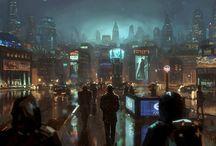 Cyberpunk ambientación