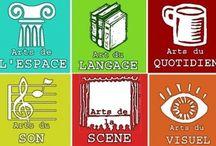 Orthographe / Des activités en orthographes mais aussi des dictées escalier en lien avec l'histoire des arts