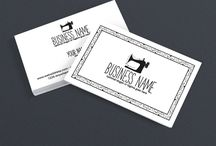 Sewing Business Cards / Sewing business cards to help you market your business. These designs will make you look professional and show people you are serious about your business.