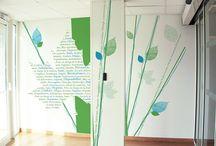 Décoration murale by Cassiopée graphisme / décoration murale / stickers / papier peint personnalisé / design / mur / décor / adhésif ...