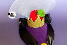 Disney Villains / Collection of handmade villains inspired fascinators by Hat and Mouse for disneybound, halloween, disney costumes and vintage pinup style especially for Dapper Day.