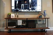 Tv console rack