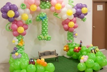Garden themed balloons