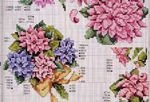 cross stitch asters