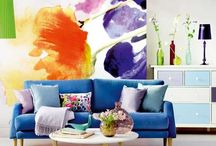 Colour Me Happy / Colourful Living Areas