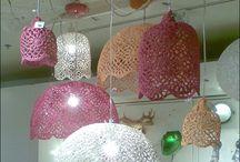 Dantel Örgü lambalar