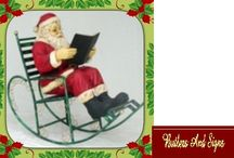 ANTA READING BOOK IN ROCKING CHAIR ~ CHRISTMAS DECOR