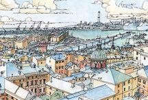 Скетчи города