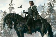 Fantasy warriors / Fantasy knights, warriors and dark forces
