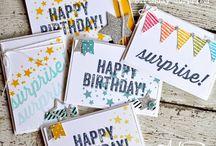 SU birthday surprise stamp set