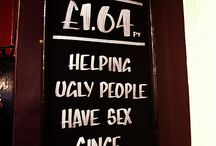 Funniest Pub Chalk Boards / From the finest establishments in the UK, we bring you some of the funniest pub chalk boards.