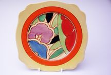 Year 3 Clarice Cliff Art topic / Image exmaples of Clarice Cliff pottery