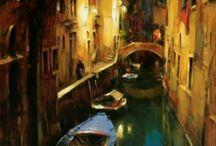 Dimitri danish notte sul canale e gondola