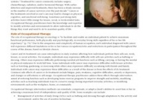 Role of OT Fact Sheets   / Occupational therapy is a science-driven, evidence-based profession that enables people of all ages to live life to its fullest by helping them promote health and prevent—or live better with—illness, injury or disability. Fact Sheets on the Role of OT are an overview of occupational therapy's role in a specific domain or practice environment for both the professional and consumer. They maybe copied and distributed without prior written consent from AOTA. / by AOTA Inc