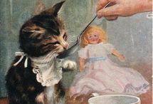 Gatti illustrazioni