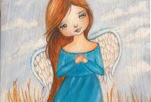 anioły ilustracje obrazy