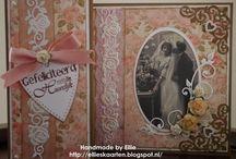 Vintage huwelijks kaarten