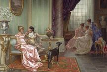 Art - Regency and Victorian / The elegant and beautiful art of the Regency and Victorian Romance era.