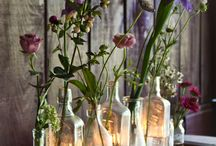 Decoration Dinner Party / dekoration, porslin, ljus, blommor till festen