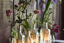 Decoration Dinner Party / dekoration, porslin, ljus, blommor till festen