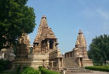 Khajuraho Temples / The chandelle rulers wew great patrons of art and architecture from 10 century to 12 century . there are some 85 temples but today 25 of which remains . western group are mostly visited . these temples are justly famed for their wealth of scultural decoration . http://asiavoyagers.com/PopularDestinationSearch.aspx?State=2&City=40&Location=87