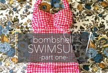 Sewing swimming suits