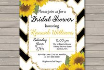 Baby Shower Ideas / Black & White Chevron with Gold Accents and Poppies