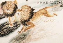 Chinese Lion Paintings / Chinese Lion Paintings from CNArtGallery.com http://www.cnartgallery.com/91-chinese-lion-paintings