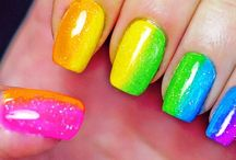 Uñas de colores - Colors nails / Uñas decoradas con muchos colores, uña diferentes y con un toque fresco y joven - Nails design with multiple colors for young and fresh people